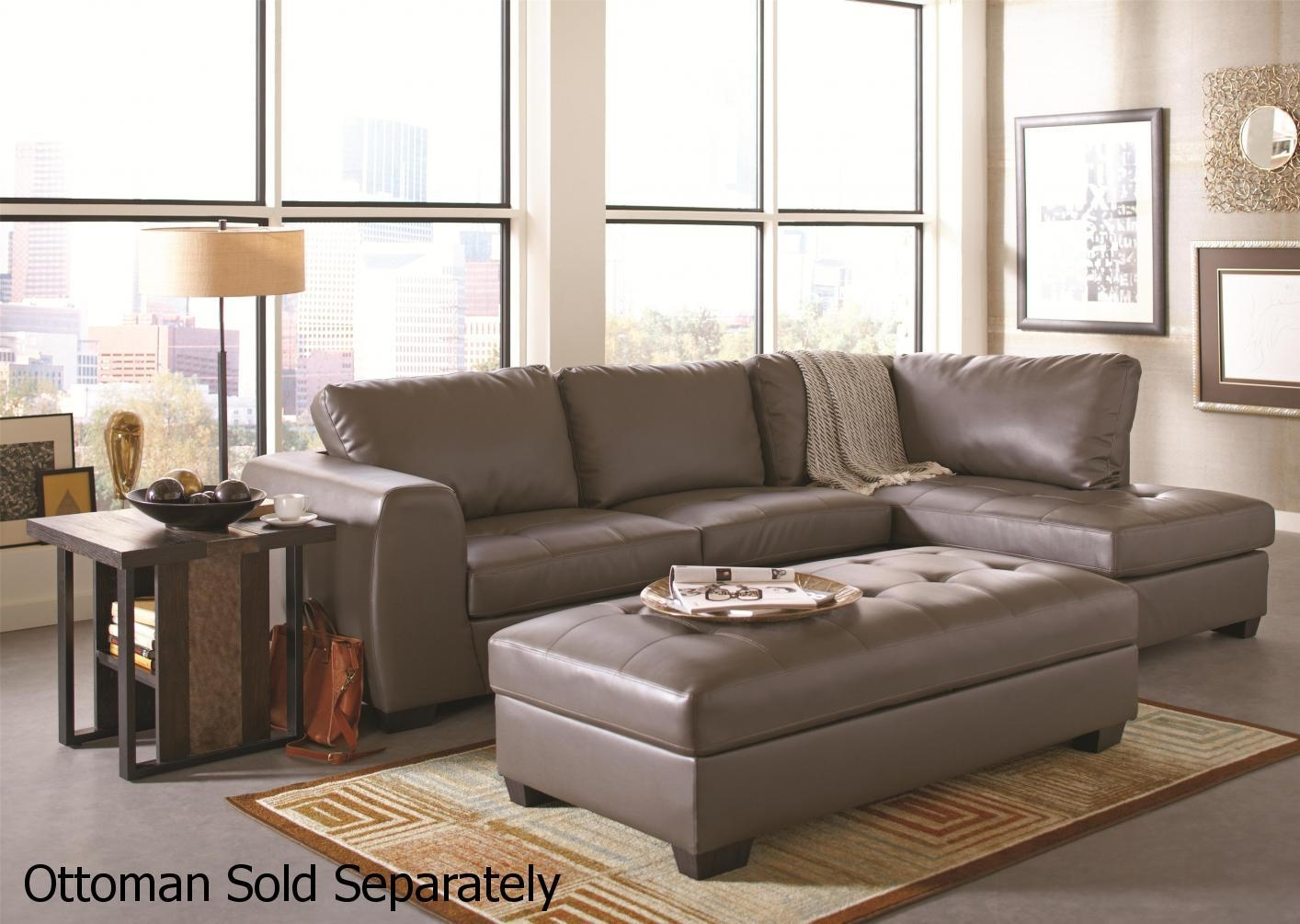 Grey Leather Sectional Sofa – Steal A Sofa Furniture Outlet Los Regarding Sectional Sofas Los Angeles (View 20 of 20)