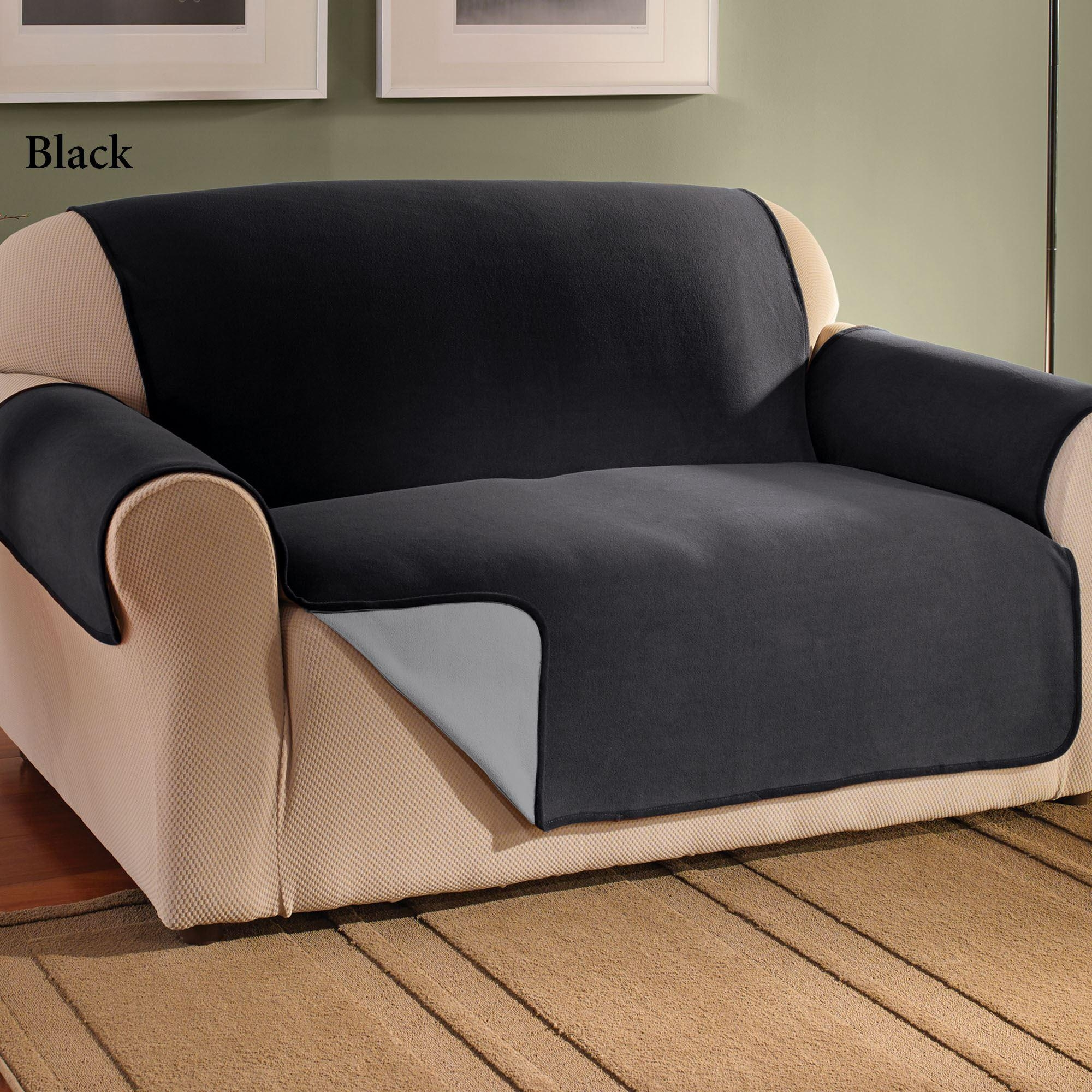 Grey Sofa Cover For Pets Throughout Black Slipcovers For Sofas (View 13 of 20)