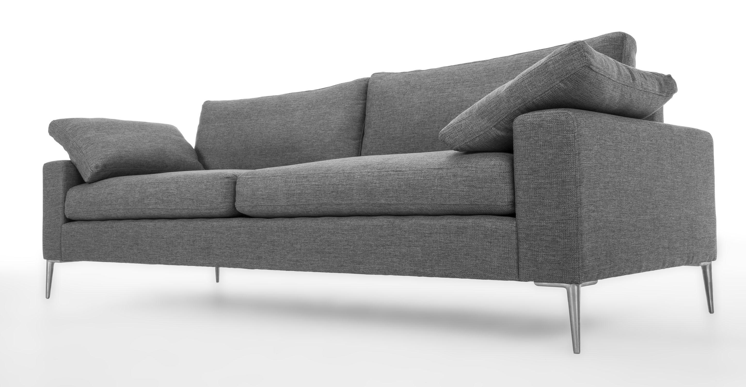 Grey Sofa Set (Image 9 of 20)