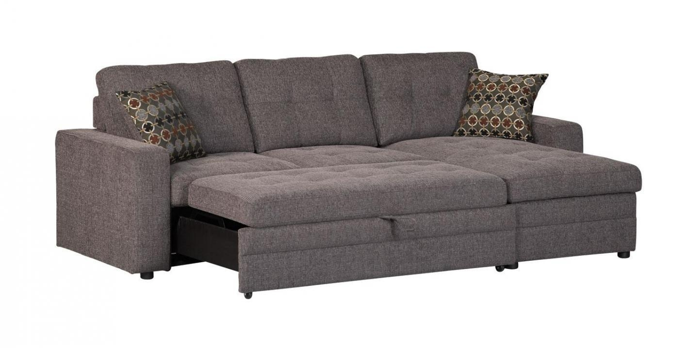 Gus Black Fabric Sectional Sleeper Sofa – Steal A Sofa Furniture Within Los Angeles Sleeper Sofas (View 20 of 20)