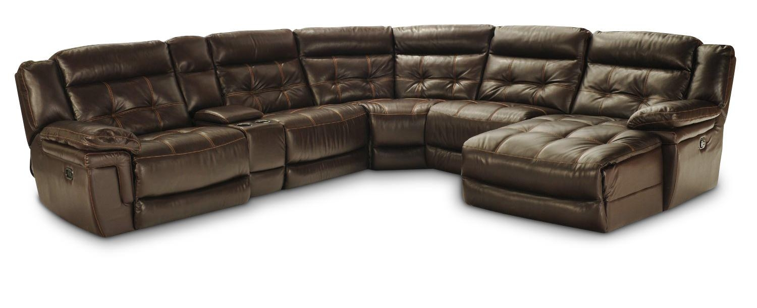 Hallmark 6 Piece Leather Power Recline Sectional (2 Reclining Intended For 6 Piece Leather Sectional Sofa (View 3 of 15)