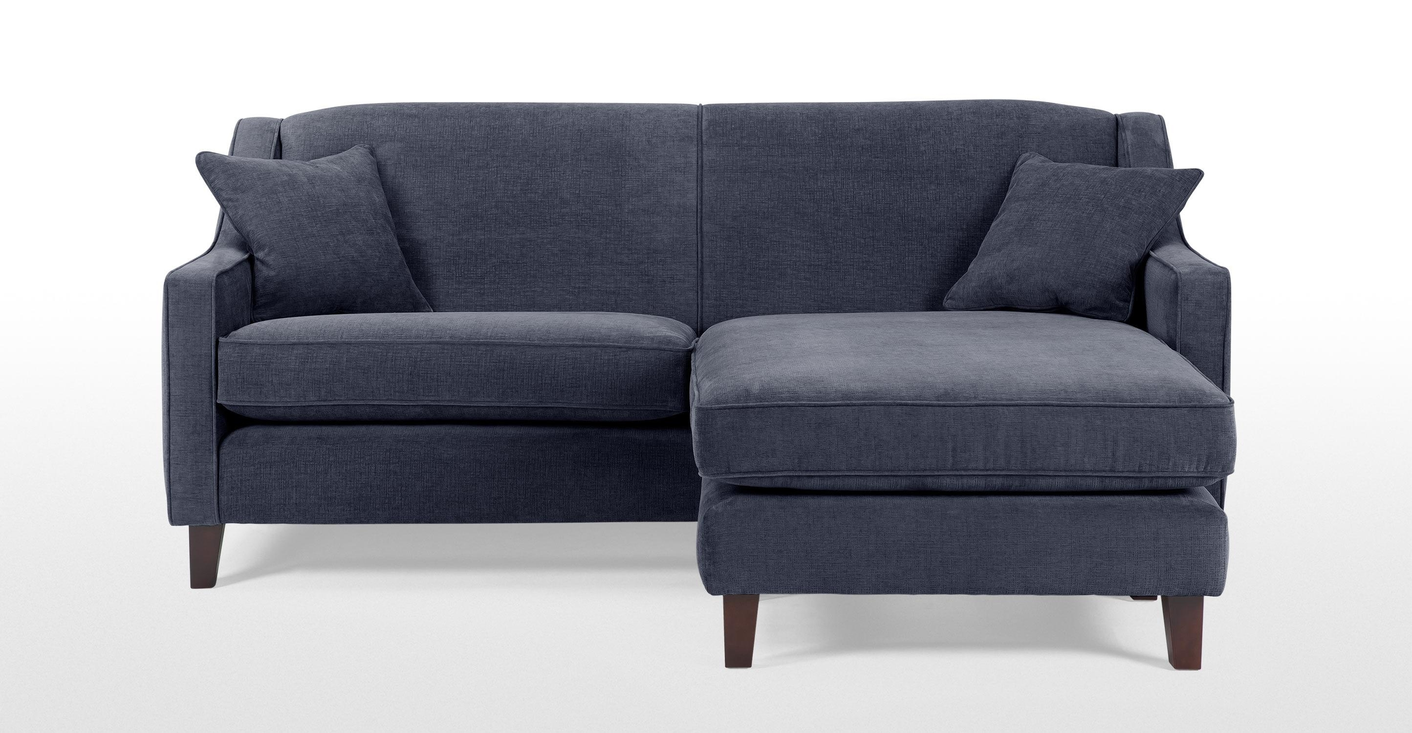 Halston Corner Sofa In Midnight Blue | Made Inside Midnight Blue Sofas (View 11 of 20)