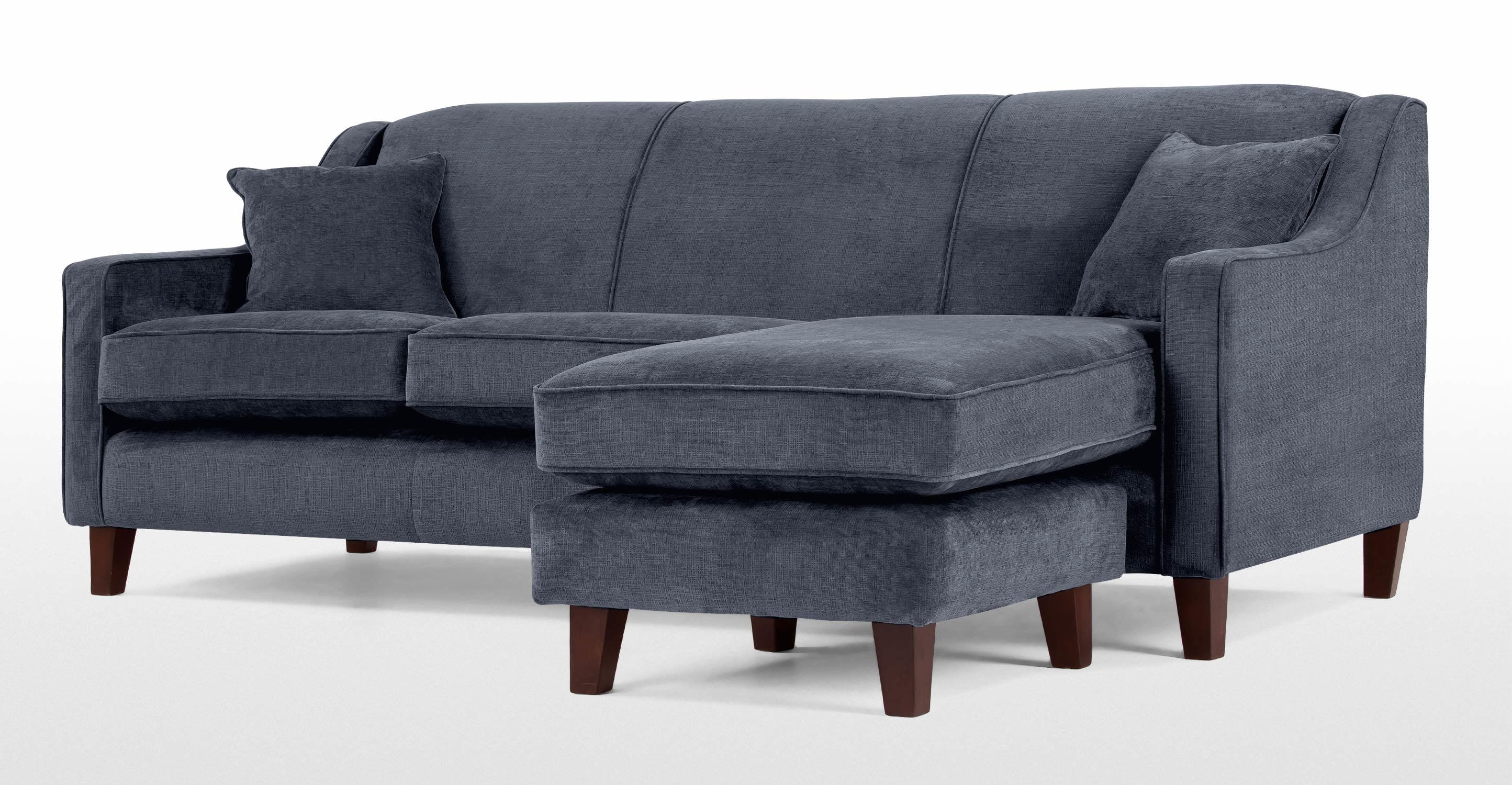Halston Large Corner Sofa In Midnight Blue | Made For Midnight Blue Sofas (Image 13 of 20)