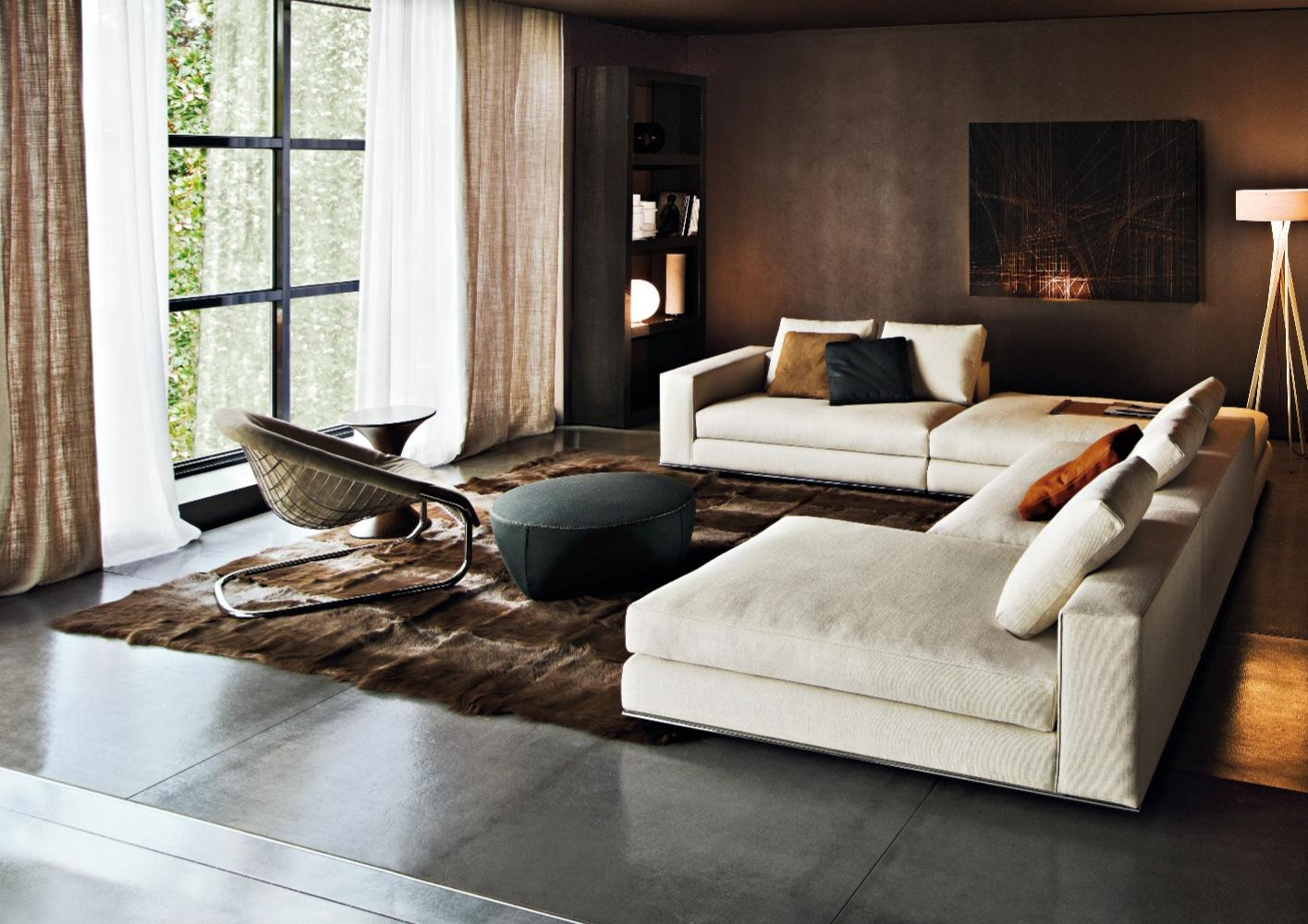 Hamilton Sofa | Designedrodolfo Dordoni, Minotti, Orange Skin Within Hamilton Sofas (View 8 of 20)