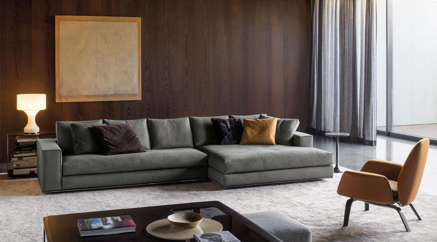 Hamilton Sofa | Designedrodolfo Dordoni, Minotti, Orange Skin Within Hamilton Sofas (View 5 of 20)