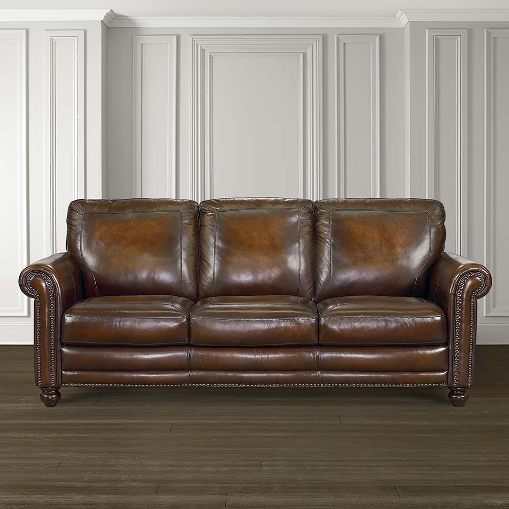 Hamilton Sofa – Leather | Living Room | Bassett Furniture Throughout Hamilton Sofas (View 3 of 20)
