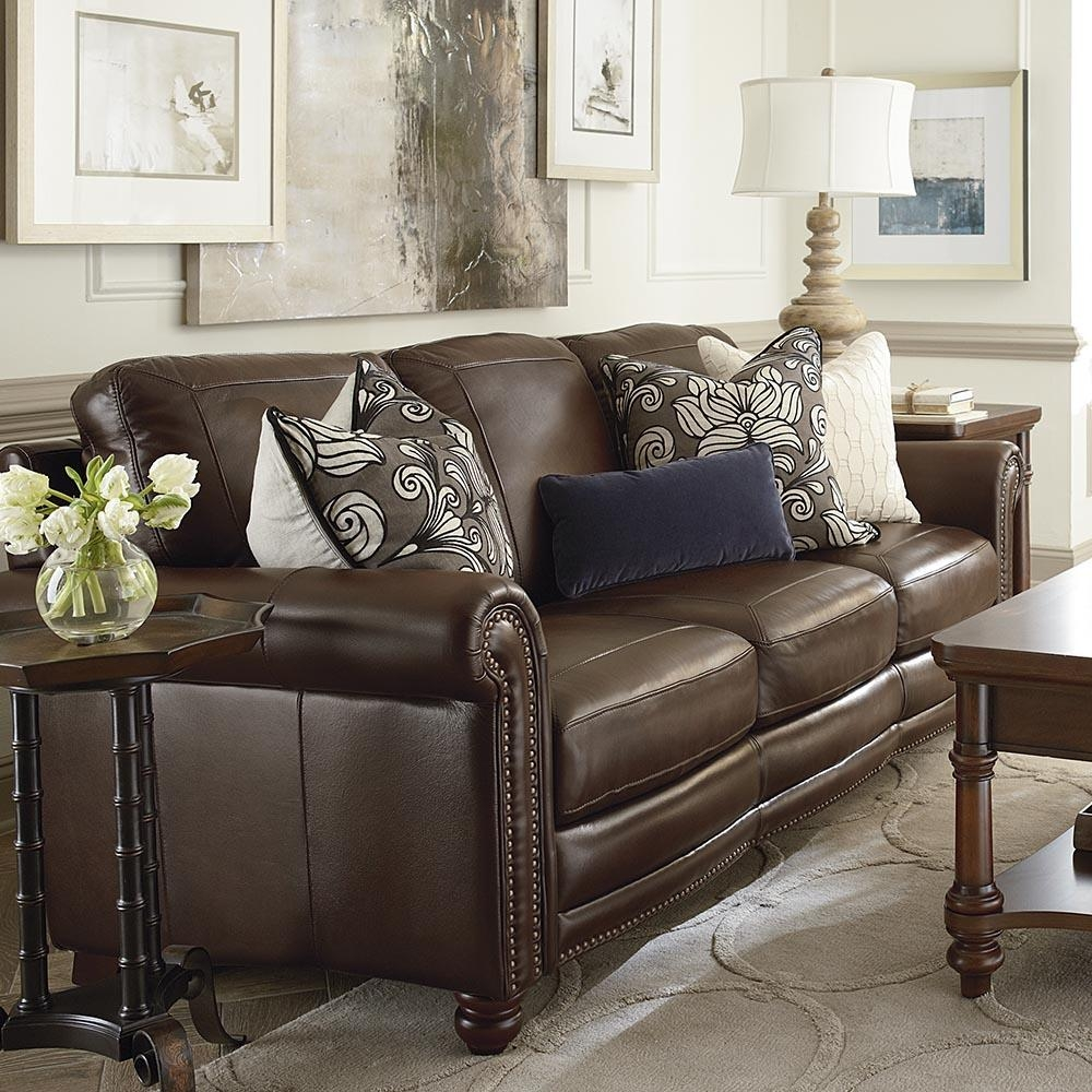 Hamilton Sofa – Leather | Living Room | Bassett Furniture With Hamilton Sofas (View 11 of 20)