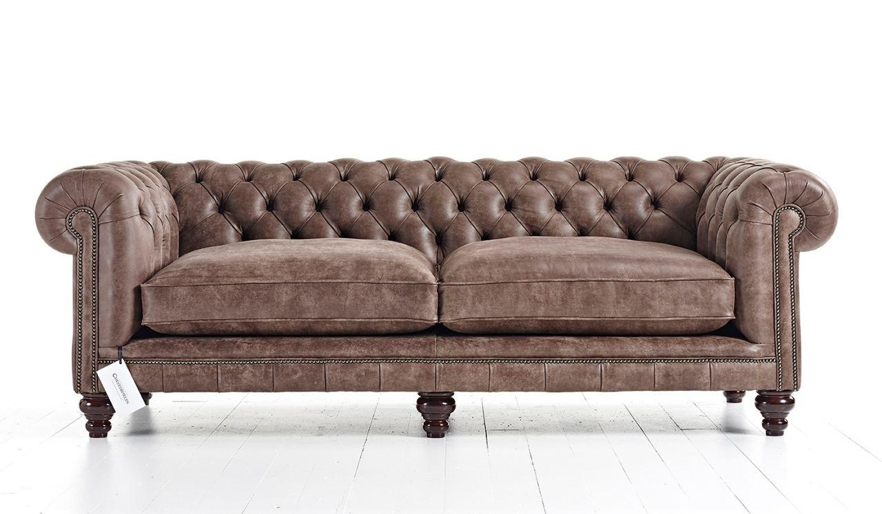 Hampton Tufted Chesterfield Sofa | Tufted Couch In Tufted Leather Chesterfield Sofas (Image 13 of 20)