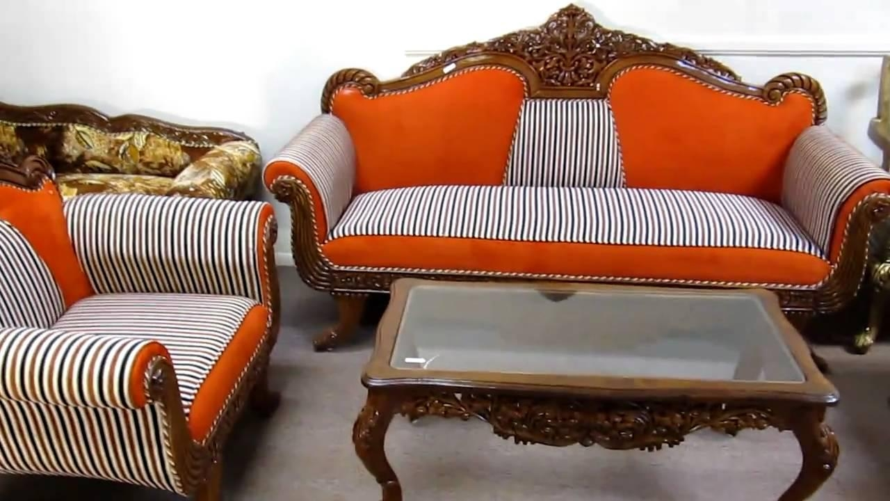 Hand Carved Furniture Sofa Sets Made In India (Image 12 of 20)