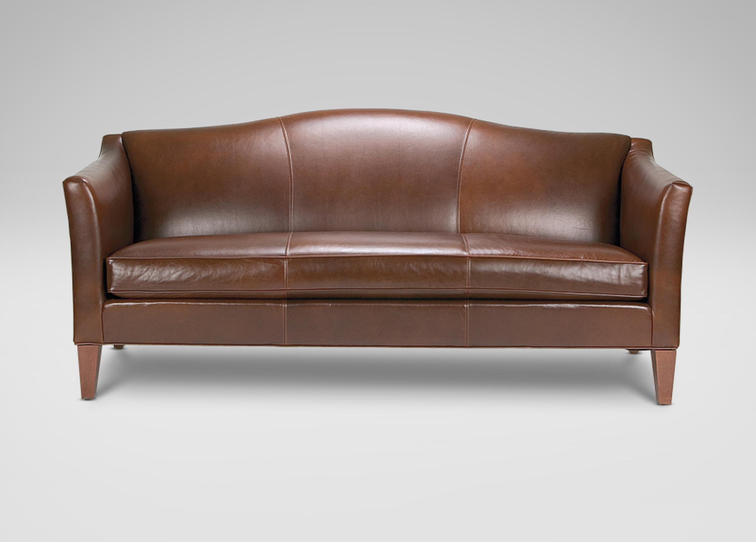 Hartwell Bench Cushion Leather Sofa – Ethan Allen | Sitegenesis With Regard To Bench Cushion Sofas (Image 12 of 20)
