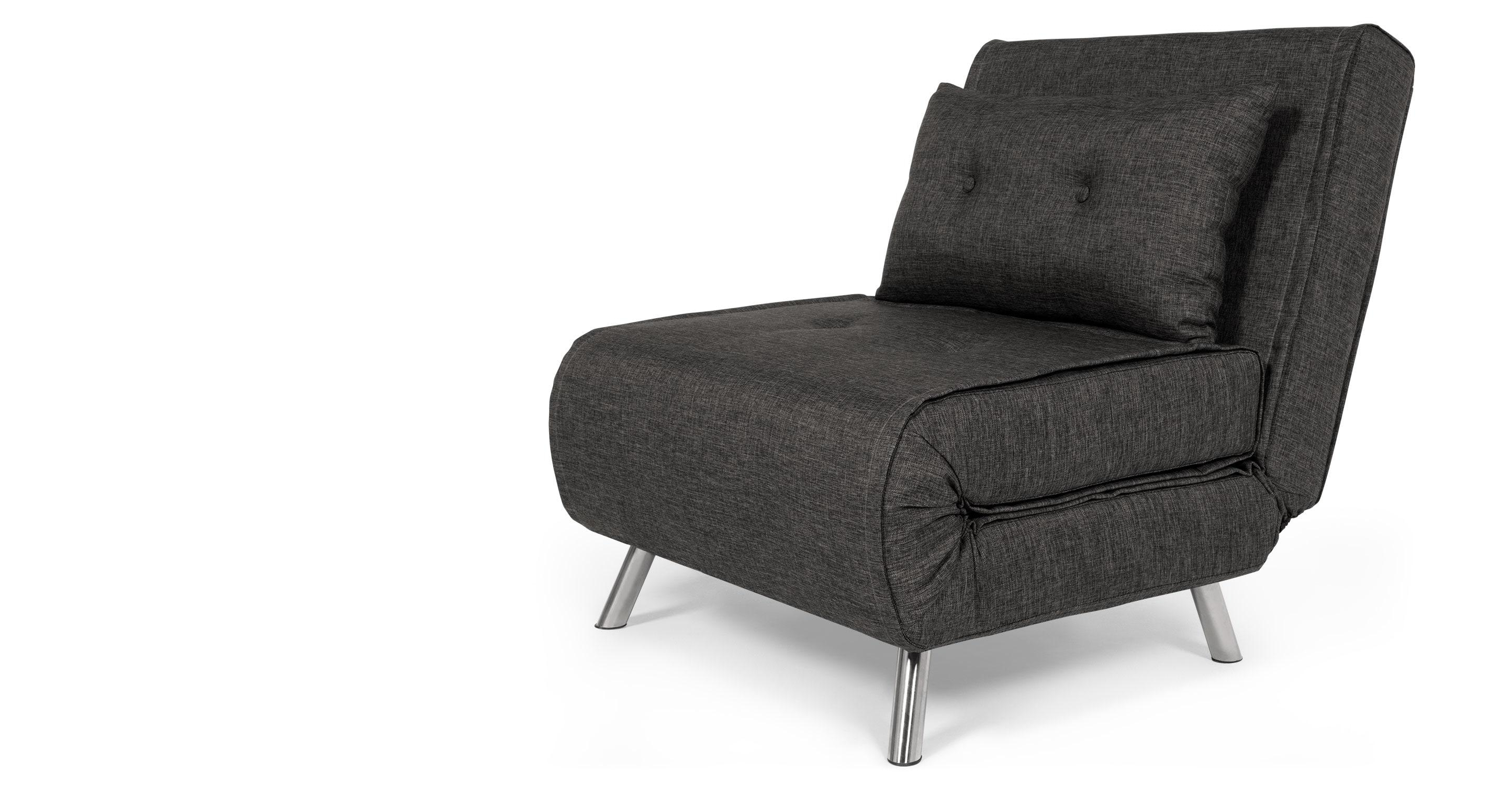 Haru Single Sofa Bed, Cygnet Grey | Made In Single Seat Sofa Chairs (Image 8 of 20)