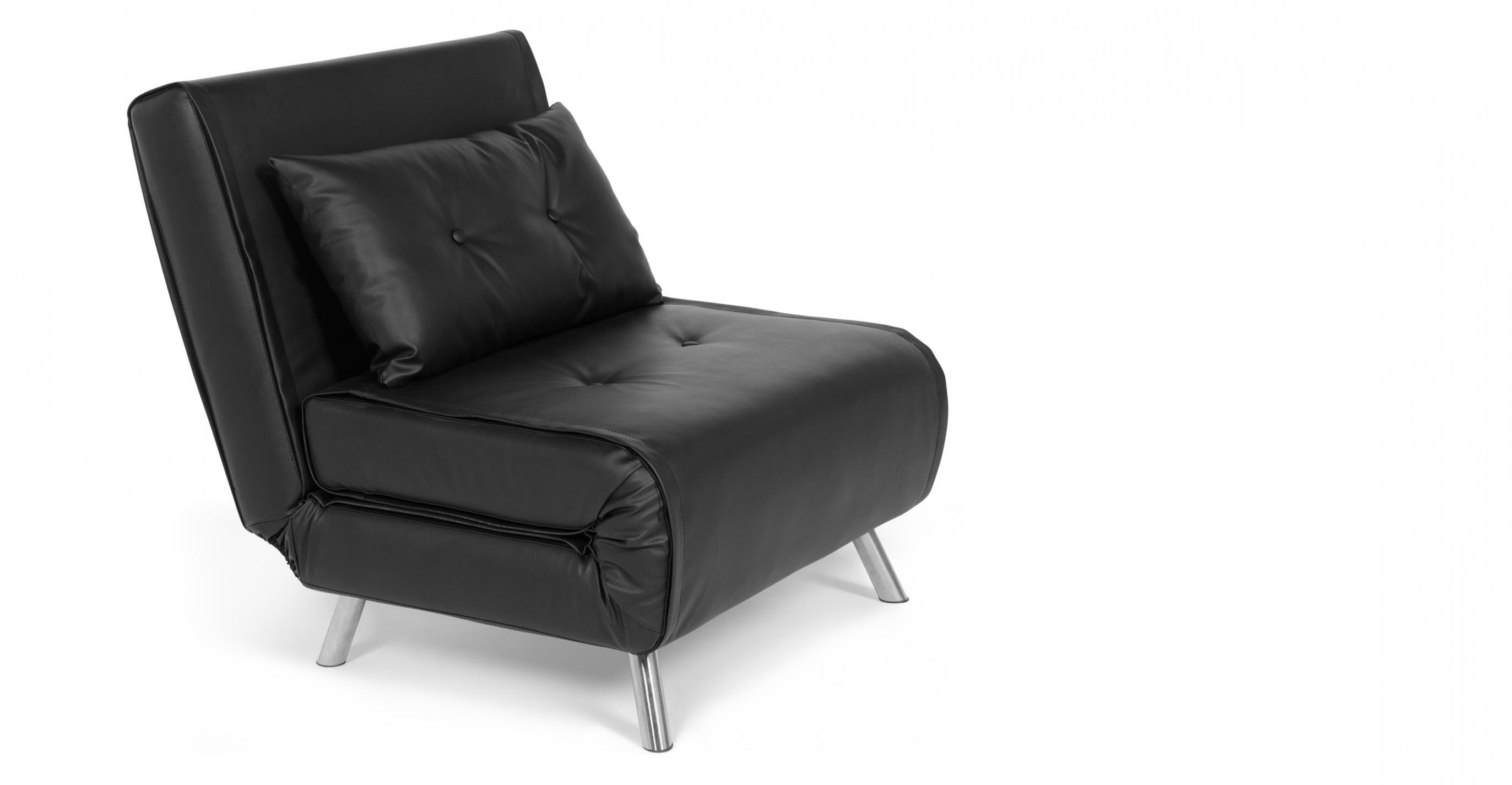 Haru Single Sofa Bed, Garnet Black | Made Inside Single Sofa Bed In Single Sofa Bed Chairs (View 14 of 20)