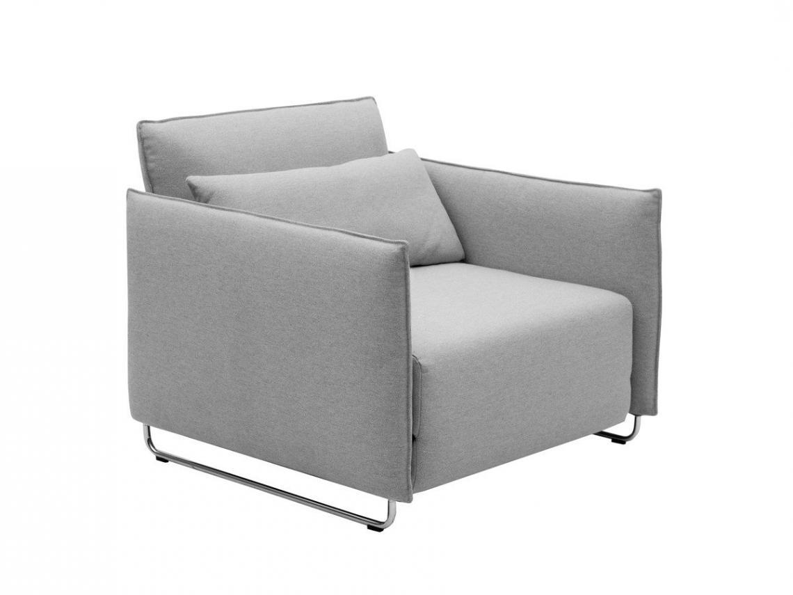 Haru Single Sofa Bed, Garnet Black | Made Inside Single Sofa Bed Intended For Single Sofa Beds (View 7 of 20)