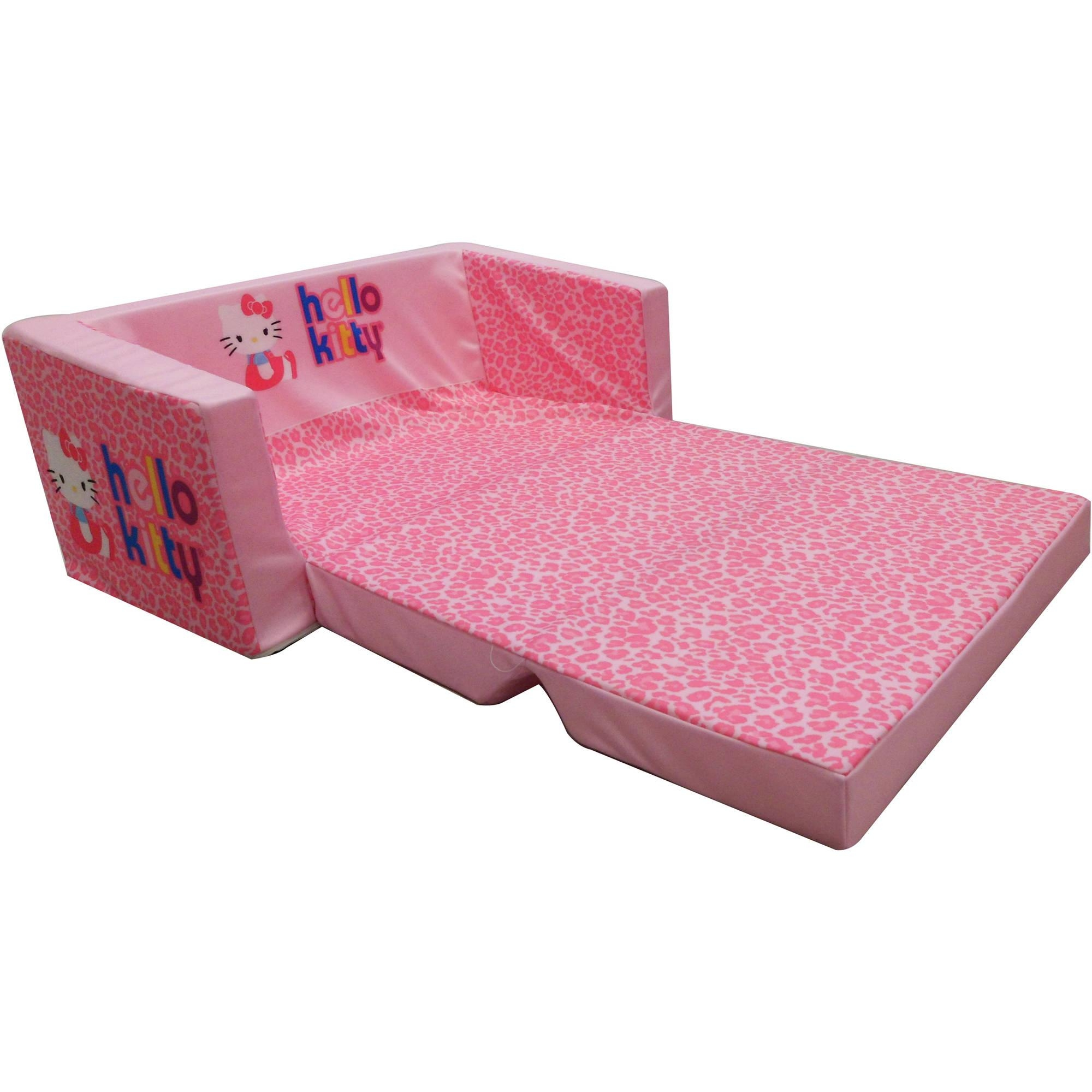 Hello Kitty Bows Small Flip Sofa U2013 Walmart Pertaining To Flip Open Kids  Sofas (Image