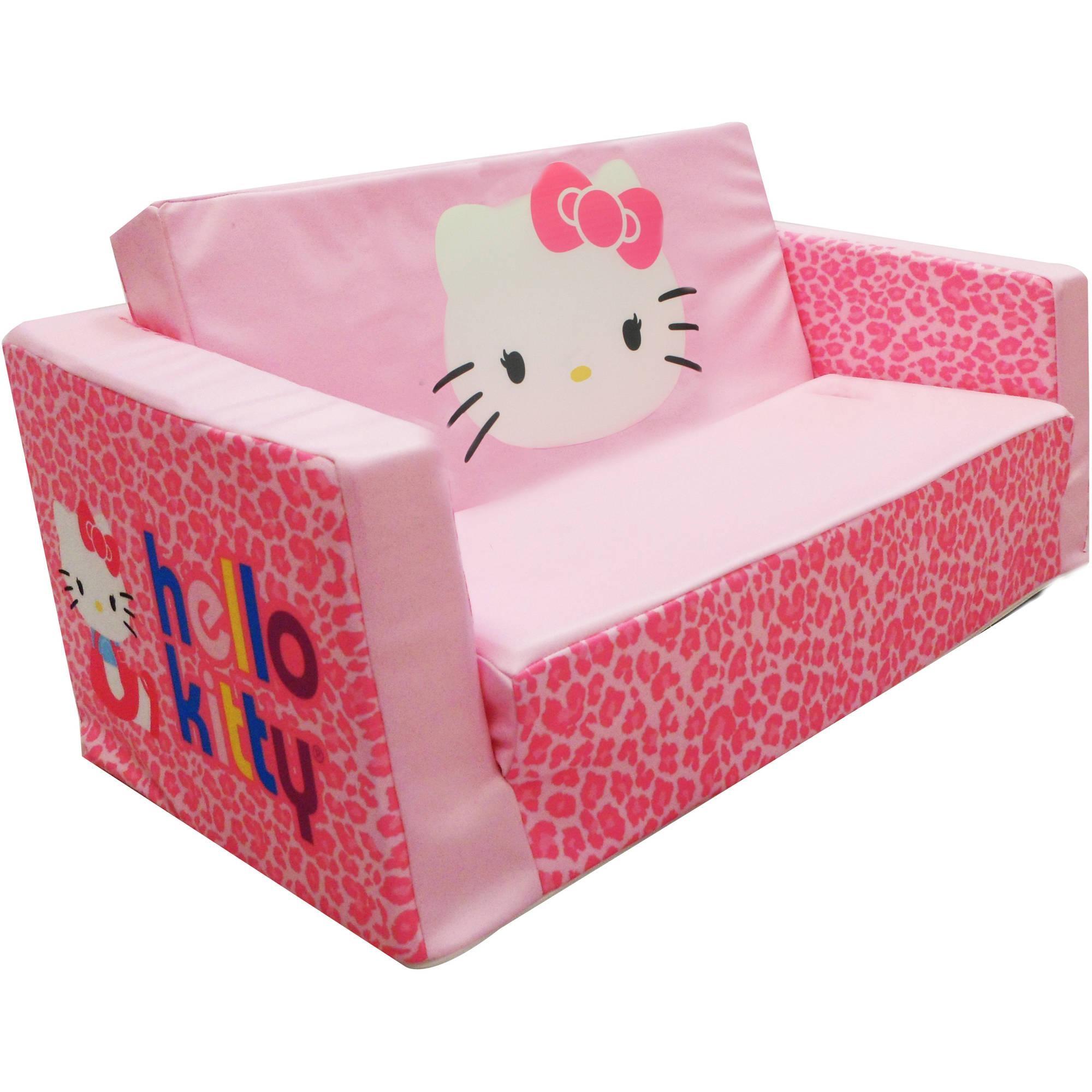 Hello Kitty Bows Small Flip Sofa – Walmart With Flip Open Kids Sofas (Image 8 of 20)