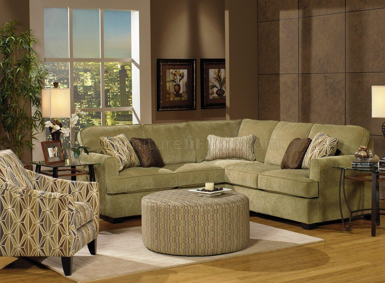Herb Chenille Fabric Modern Sectional Sofa W/optional Items Within Chenille Sectional Sofas (View 4 of 20)