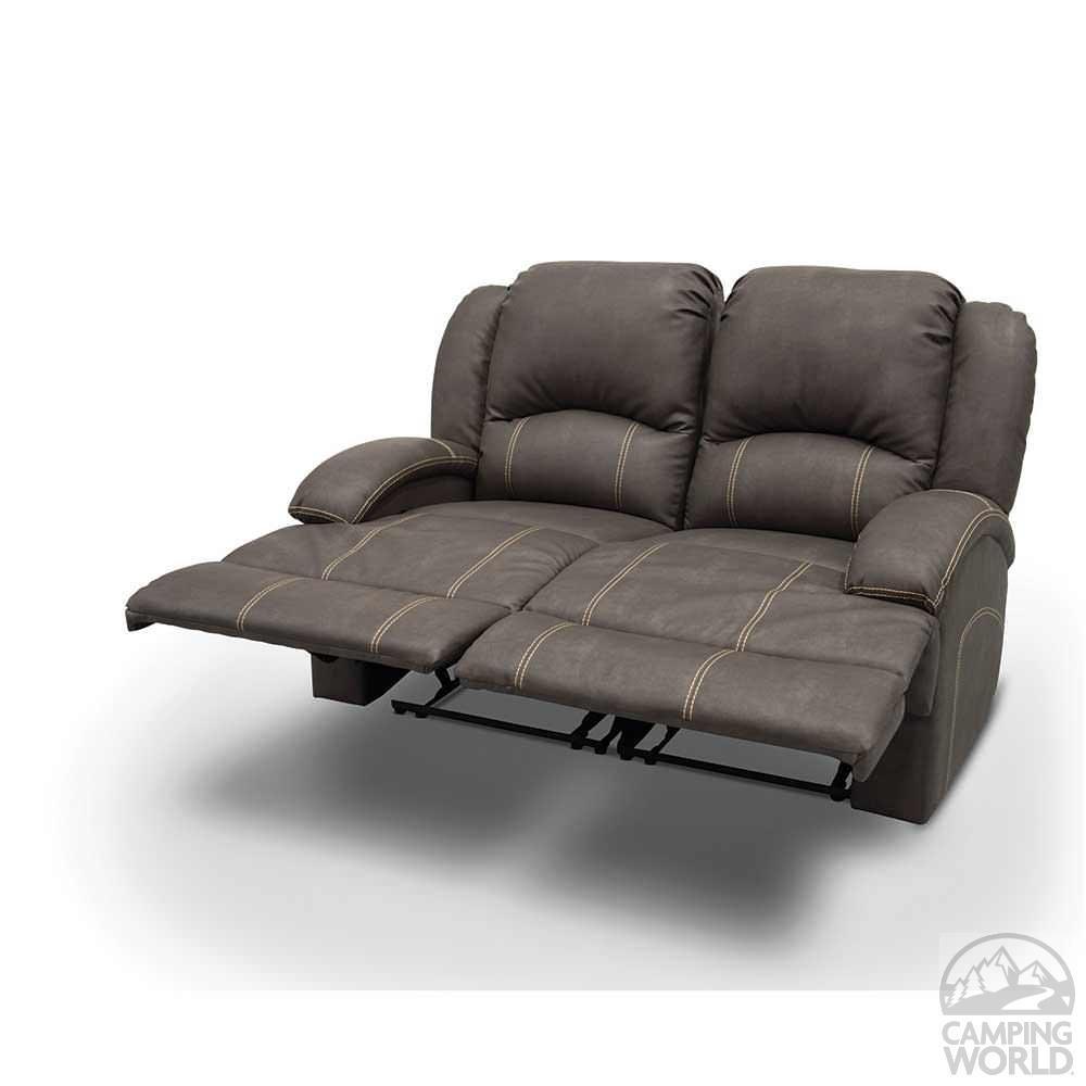 Heritage Left Arm Reclining Sofa, Beckham Steel – Lippert Regarding Rv Recliner Sofas (Image 7 of 20)