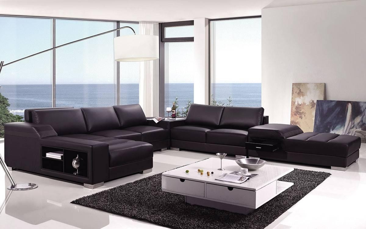 High End Covered In Bonded Leather Sectional Philadelphia For High End Leather Sectional Sofa (Image 5 of 15)
