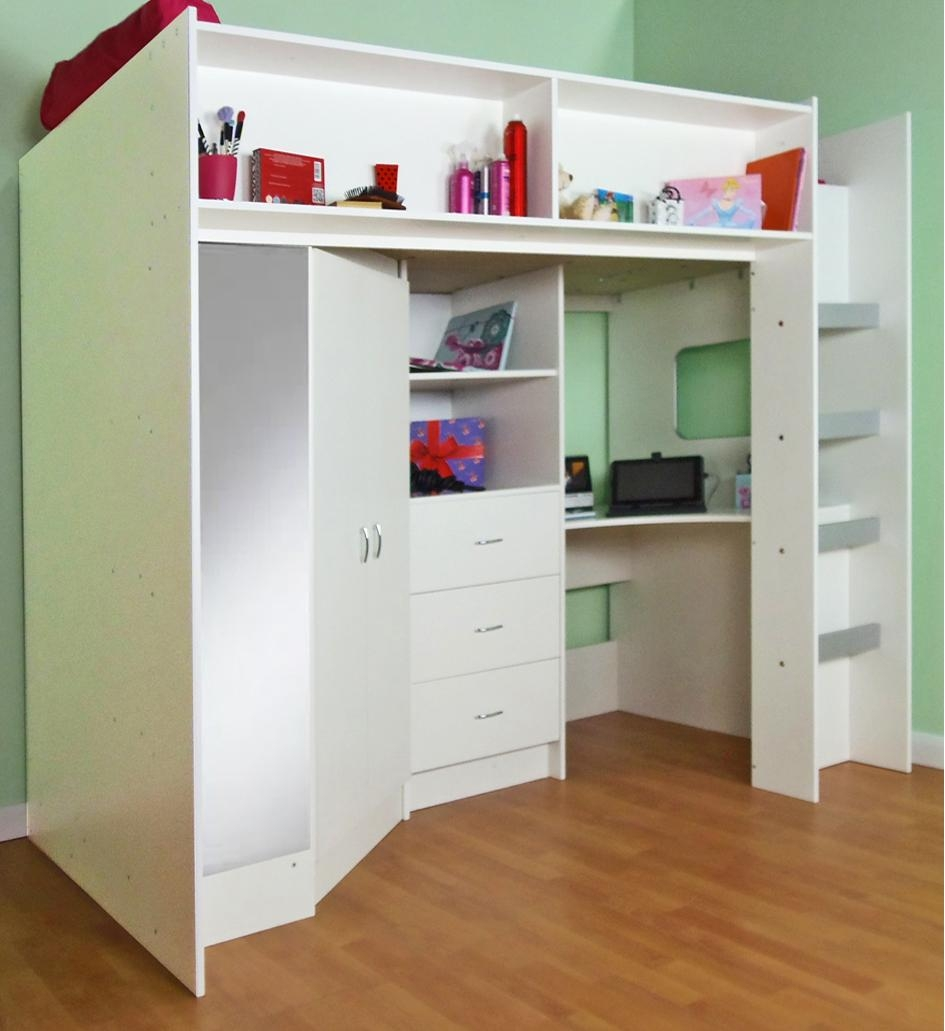 High Sleeper And High Cabin Beds In High Sleeper With Sofa And Desk (Image 5 of 20)
