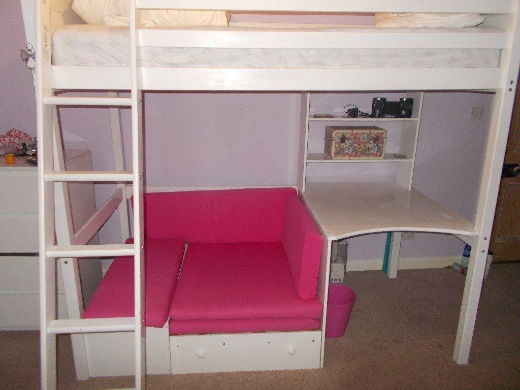 High Sleeper Bed With Desk And Sofa Bed Underneath | In Throughout High Sleeper Bed With Sofa (Image 4 of 20)