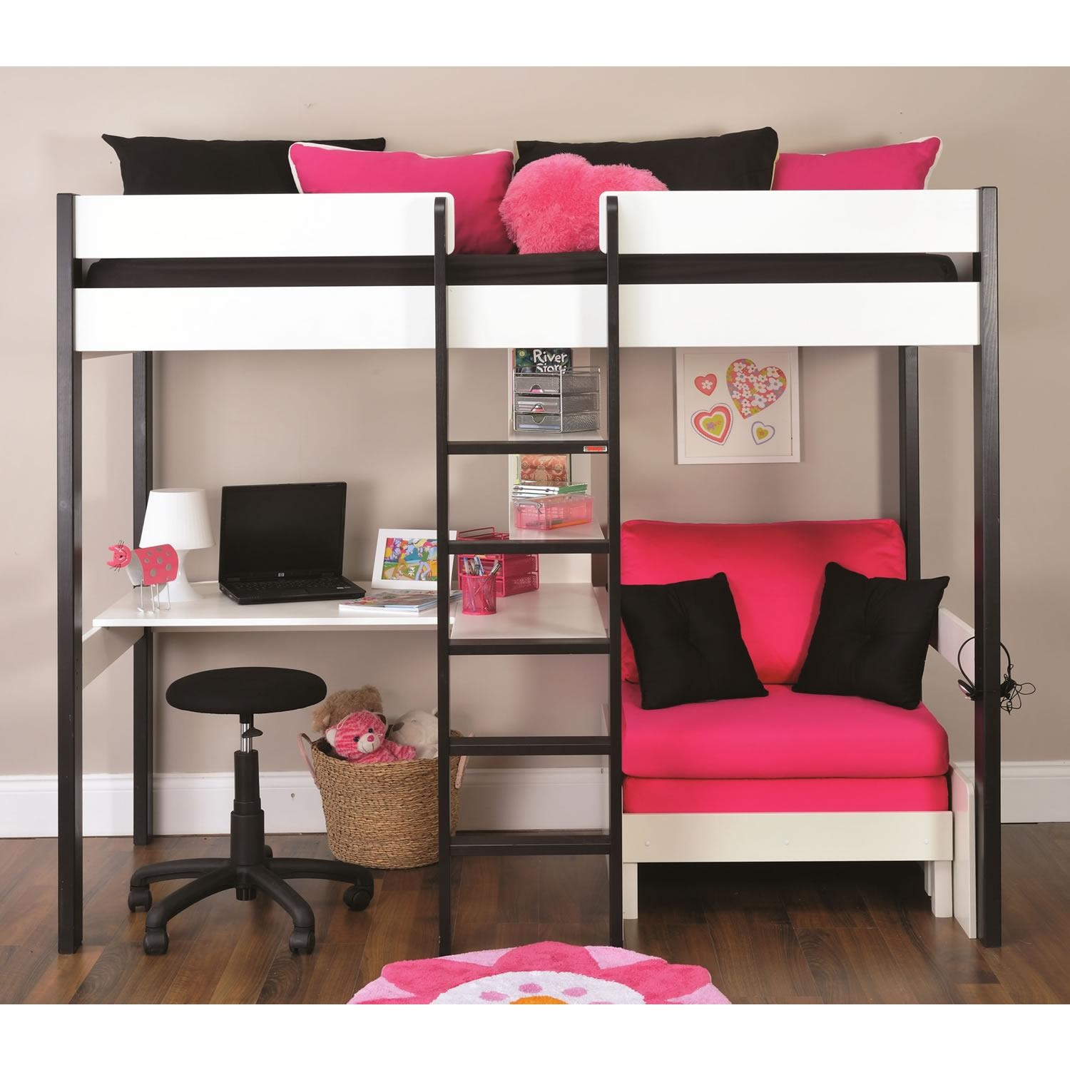 High Sleeper With Desk And Sofa Bed – Ansugallery For High Sleeper With Desk And Sofa (Image 9 of 20)