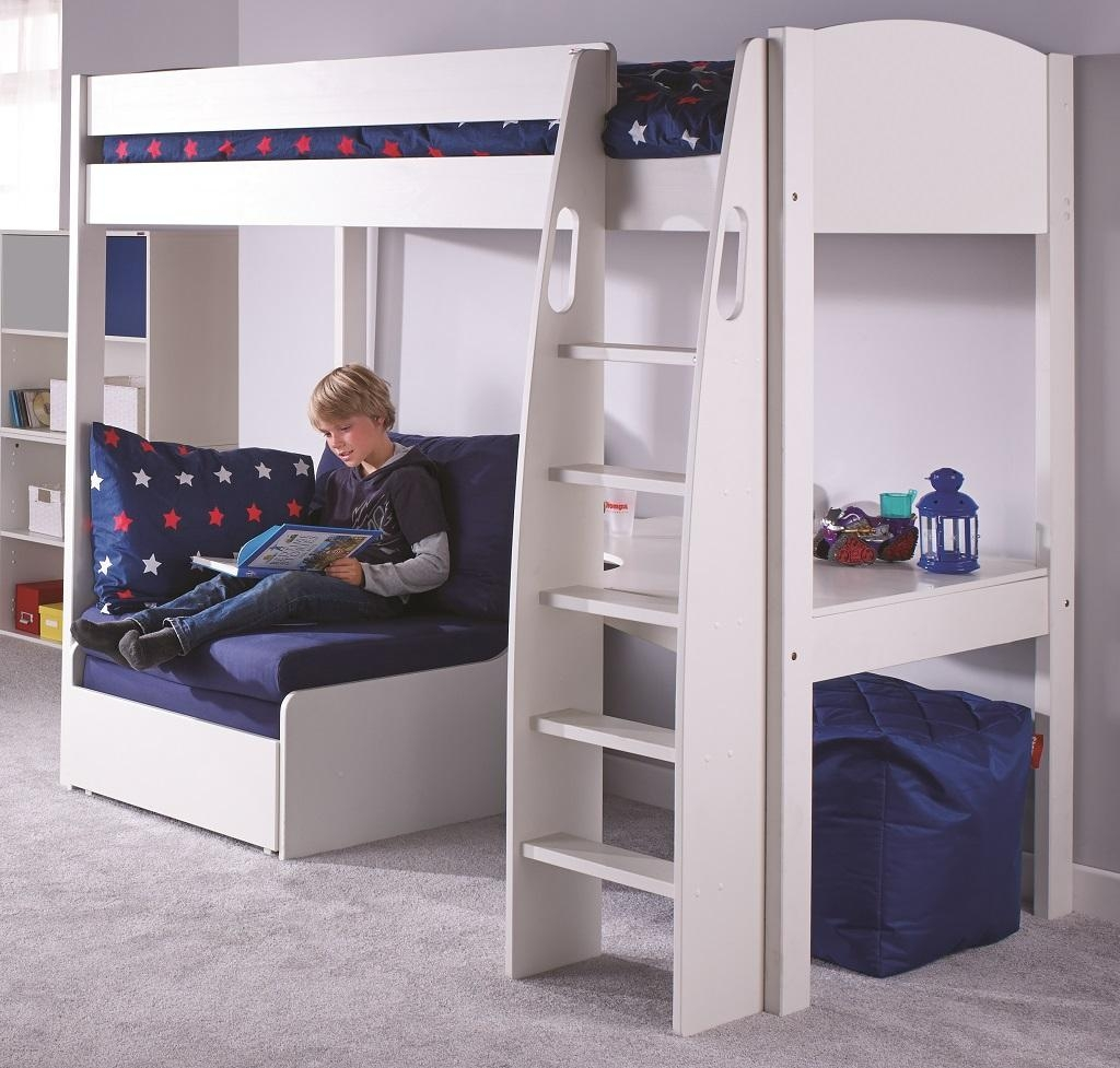 High Sleeper With Futon And Desk | Roselawnlutheran With Regard To High Sleeper With Desk And Sofa (Image 11 of 20)