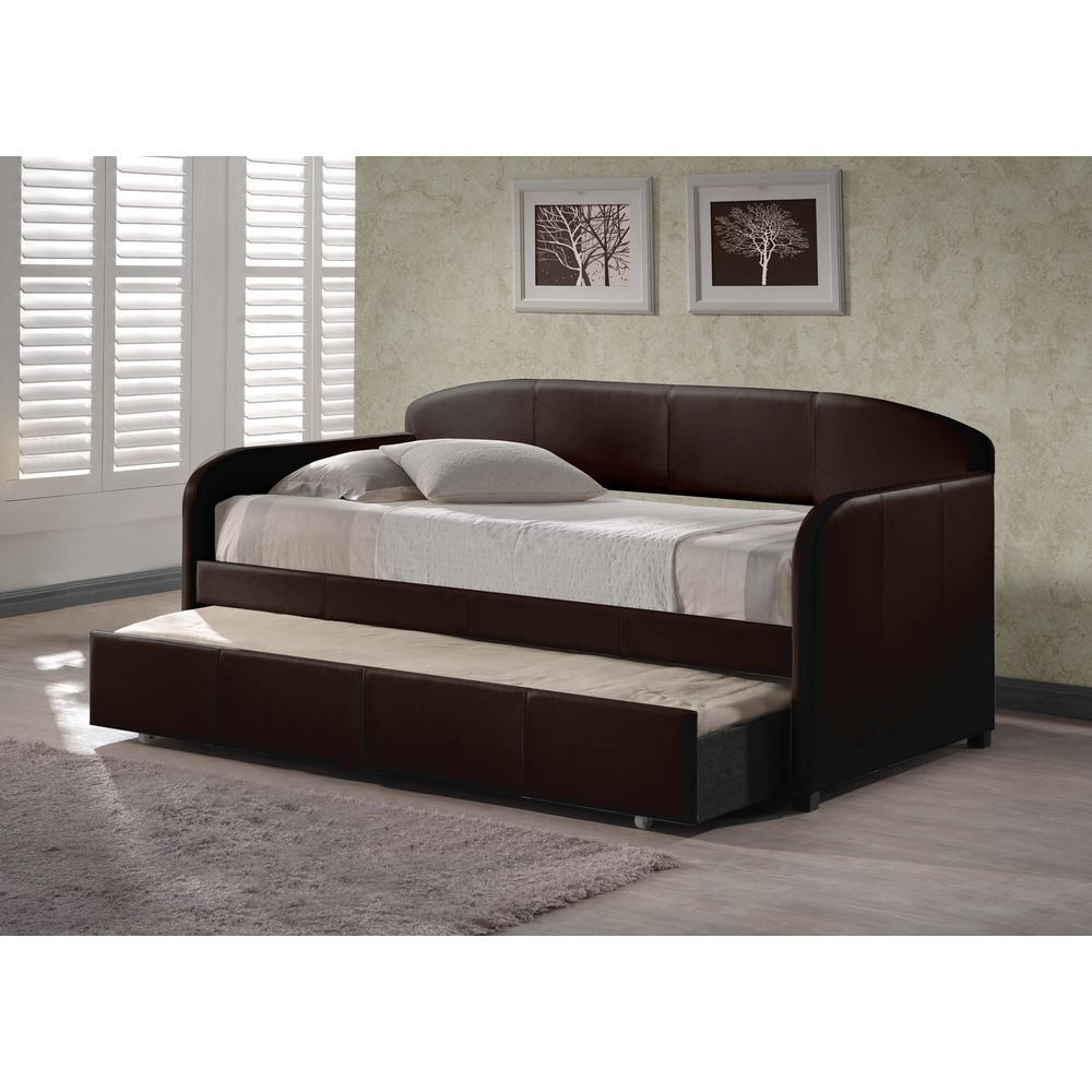 Hillsdale Furniture Springfield Brown Trundle Day Bed 1613Dbt Intended For Sofas Daybed With Trundle (Image 8 of 20)