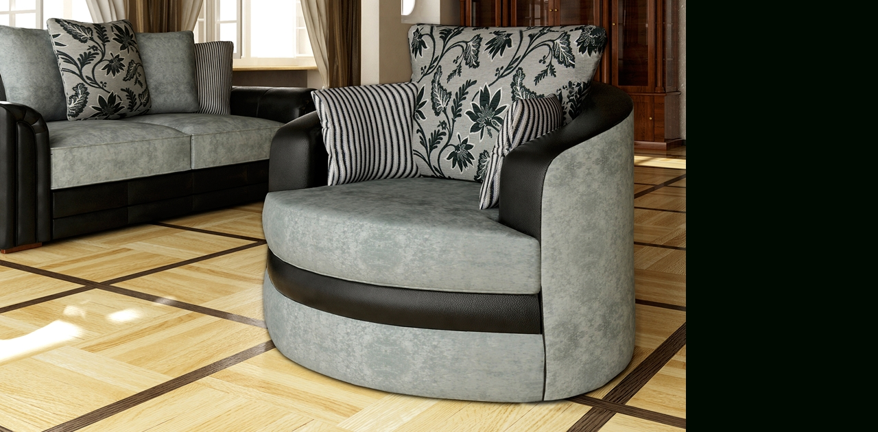 Hilton Swivel Chair Sofa – Chairs Intended For Sofa With Swivel Chair (View 11 of 20)