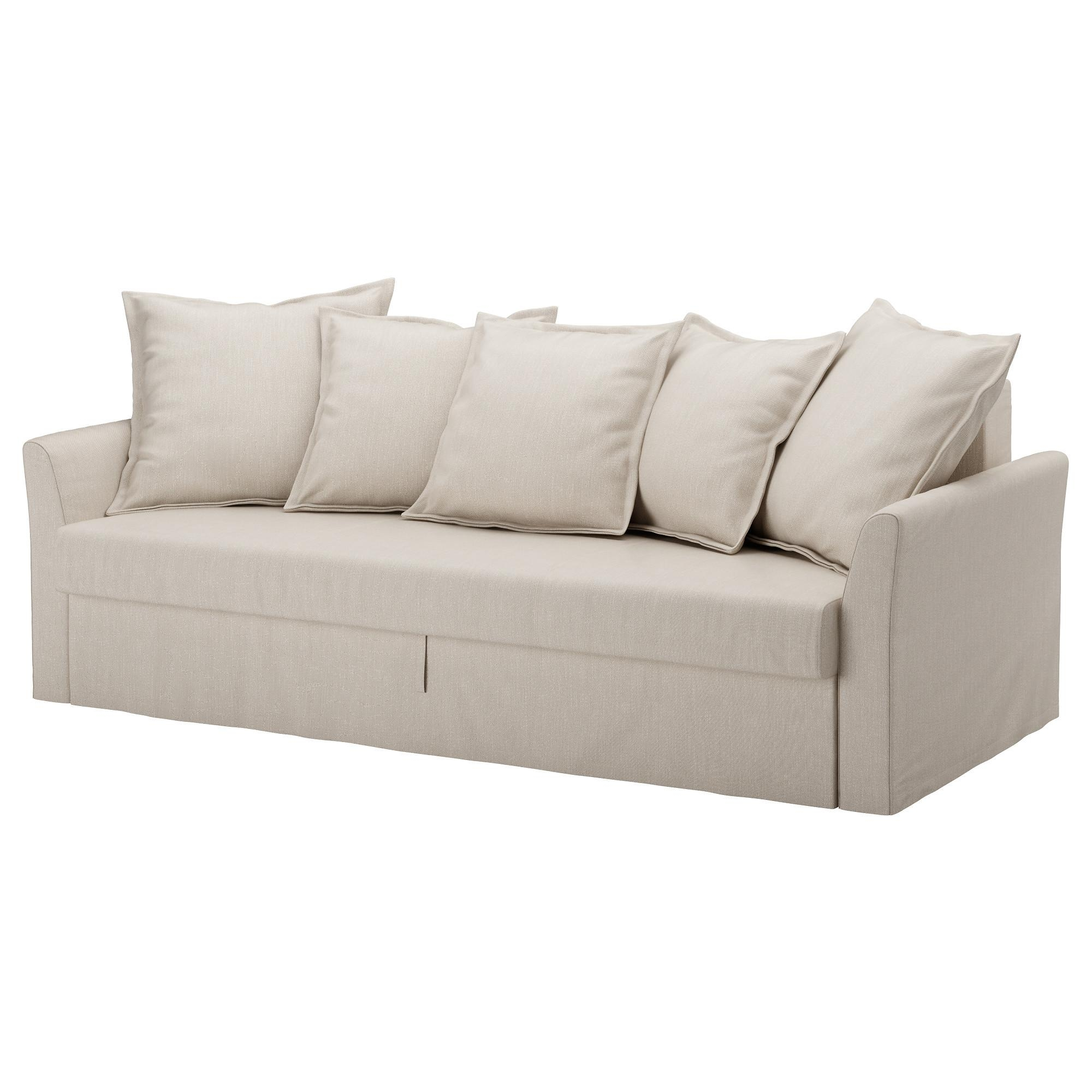 Holmsund Sleeper Sofa – Ransta Light Pink – Ikea Pertaining To Slipcovers For 3 Cushion Sofas (Image 8 of 20)