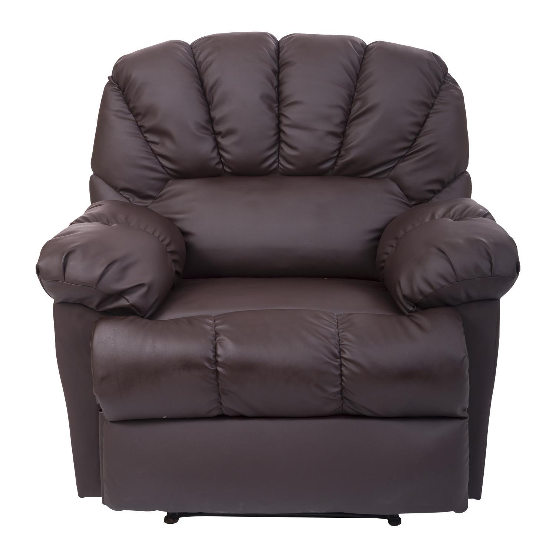 Homcom Pu Leather Vibrating Massage Sofa Chair Recliner – Brown In Sofa Chair Recliner (Image 11 of 20)