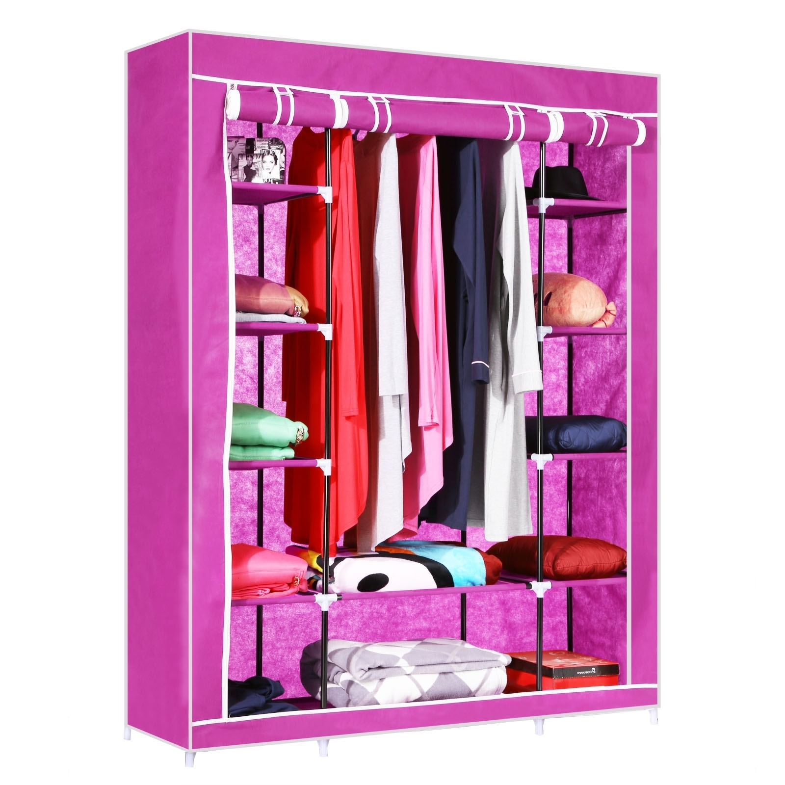 Homdox 52   Portable Closet Storage Organizer Wardrobe Clothes Intended For On The Go With A Portable Wardrobe Closet (Image 5 of 27)