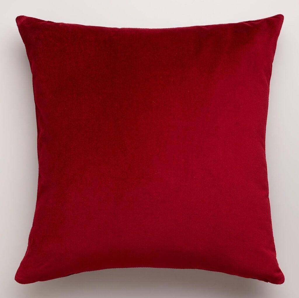 Home Decoration: Picture Of Olive Throw Pillow Set For Living Area Pertaining To Red Sofa Throws (Image 6 of 22)