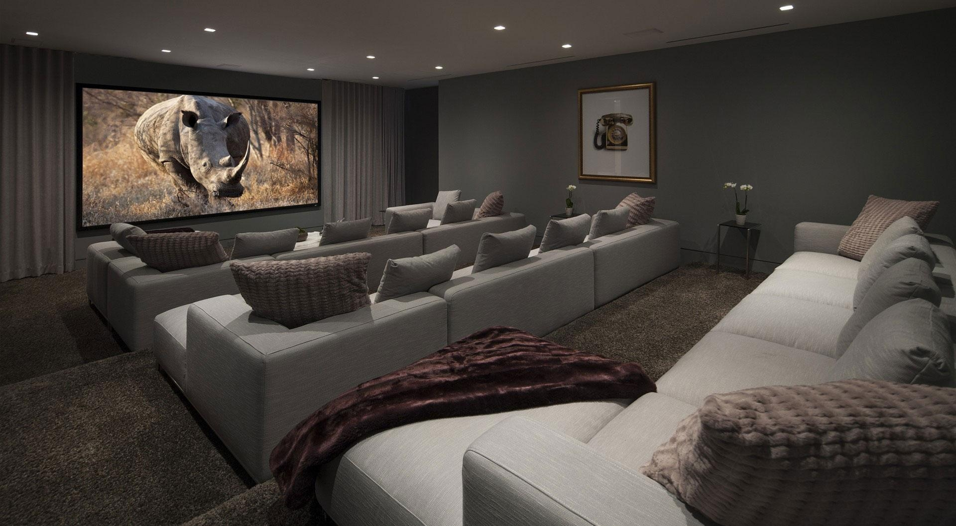 Home Media Room Designs Brilliant Home Media Room Designs – Home With Regard To Media Room Sectional (View 12 of 20)