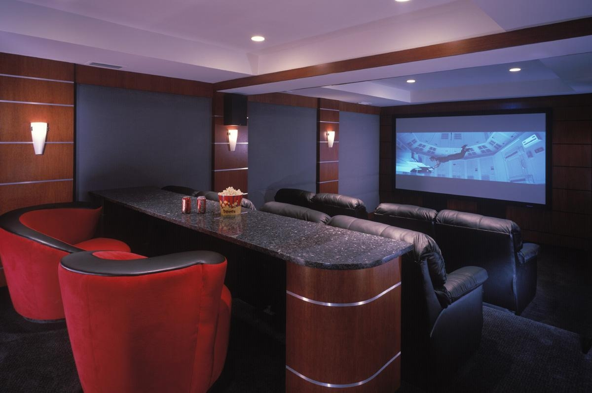 Home Theater Design And Installation | Homesfeed Intended For Theater Room Sofas (Image 9 of 20)