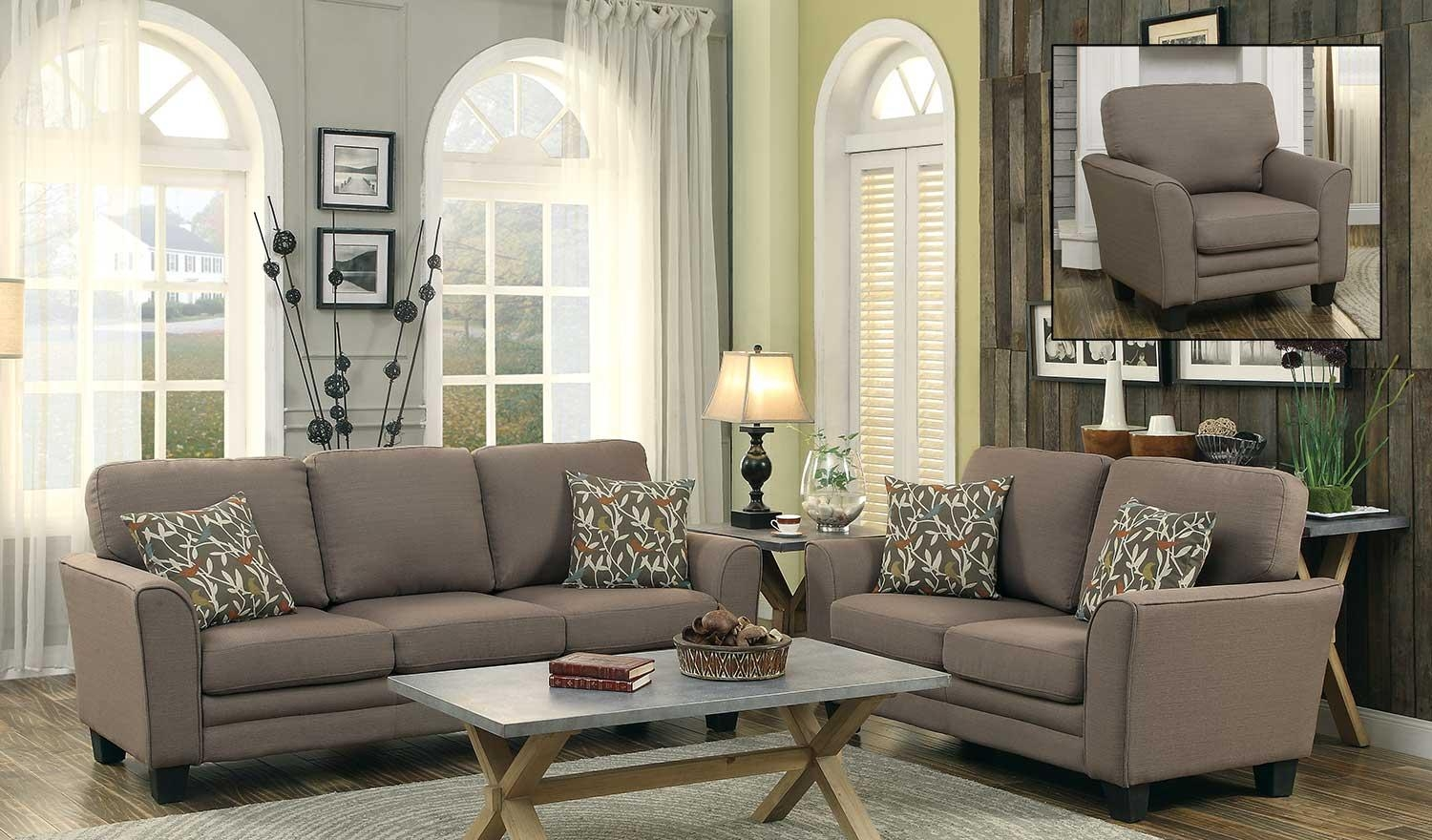 Homelegance Adair Sofa Set – Grey 8413Gy Sofa Set Regarding Homelegance Sofas (View 5 of 20)