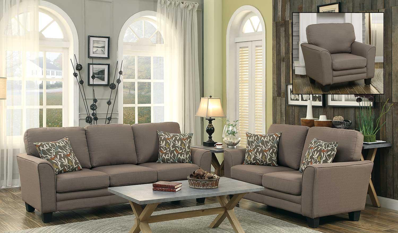 Homelegance Adair Sofa Set – Grey 8413Gy Sofa Set Regarding Homelegance Sofas (Image 2 of 20)