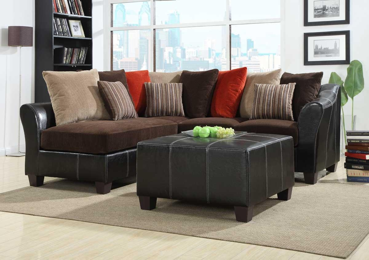 Homelegance Besty Modular Sectional Sofa Set – Chocolate Corduroy In Chocolate Brown Sectional (Image 10 of 15)