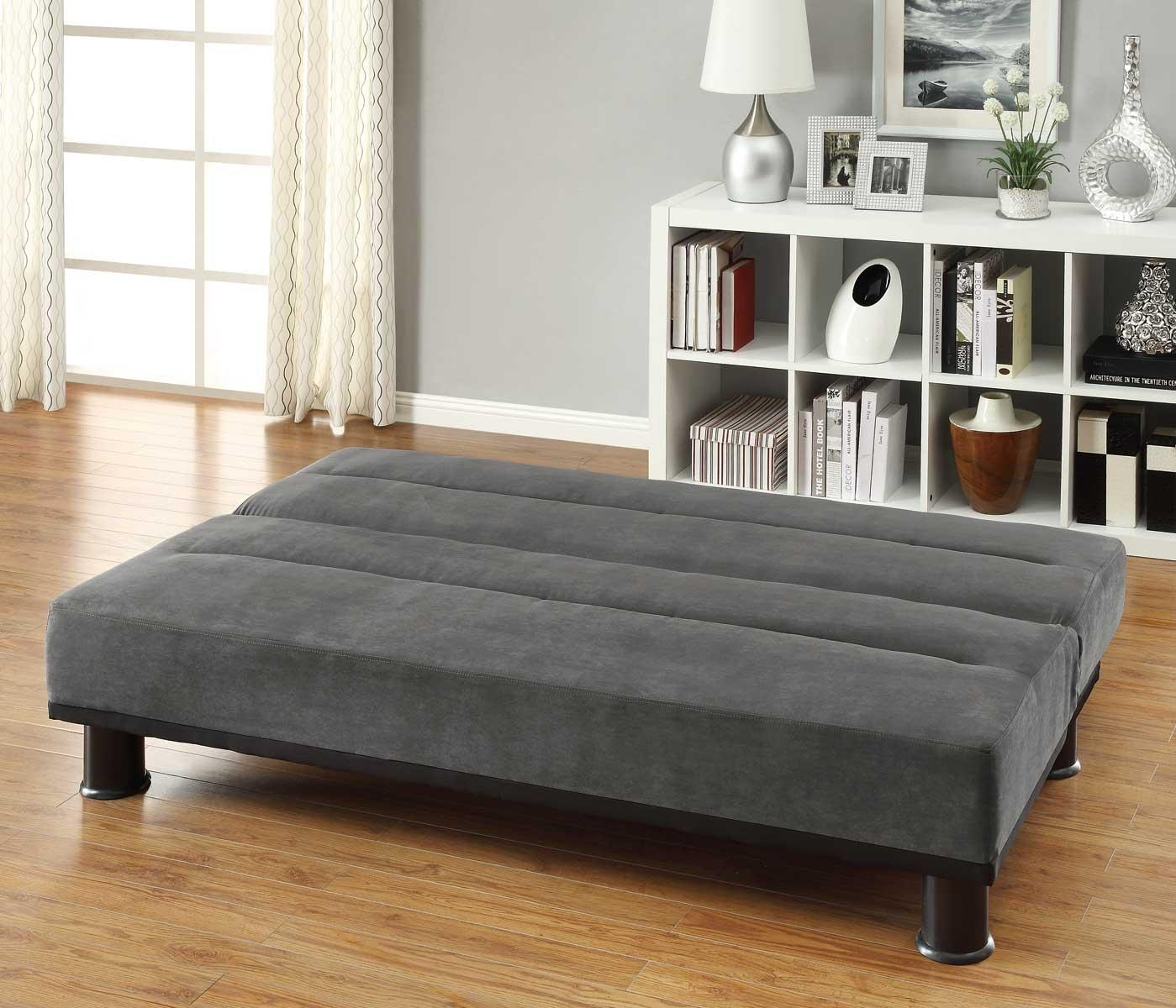 Homelegance Callie Click Clack Sofa Bed – Graphite – Grey With Regard To Clic Clac Sofa Beds (Image 11 of 20)