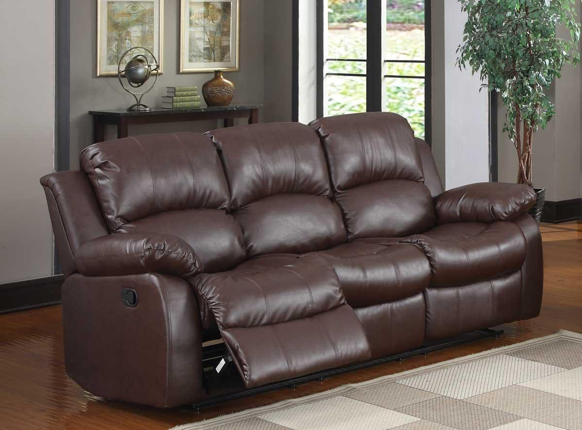Homelegance Cranley Double Reclining Sofa – Brown Bonded Leather With Homelegance Sofas (Image 6 of 20)