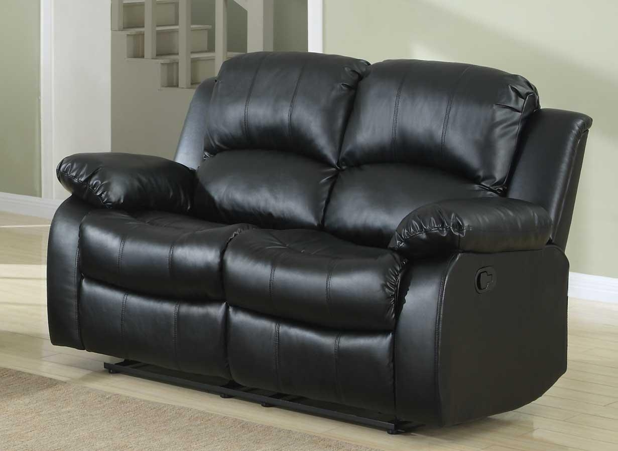 Homelegance Cranley Reclining Sofa Set – Black Bonded Leather Inside Recliner Sofa Chairs (Image 14 of 20)