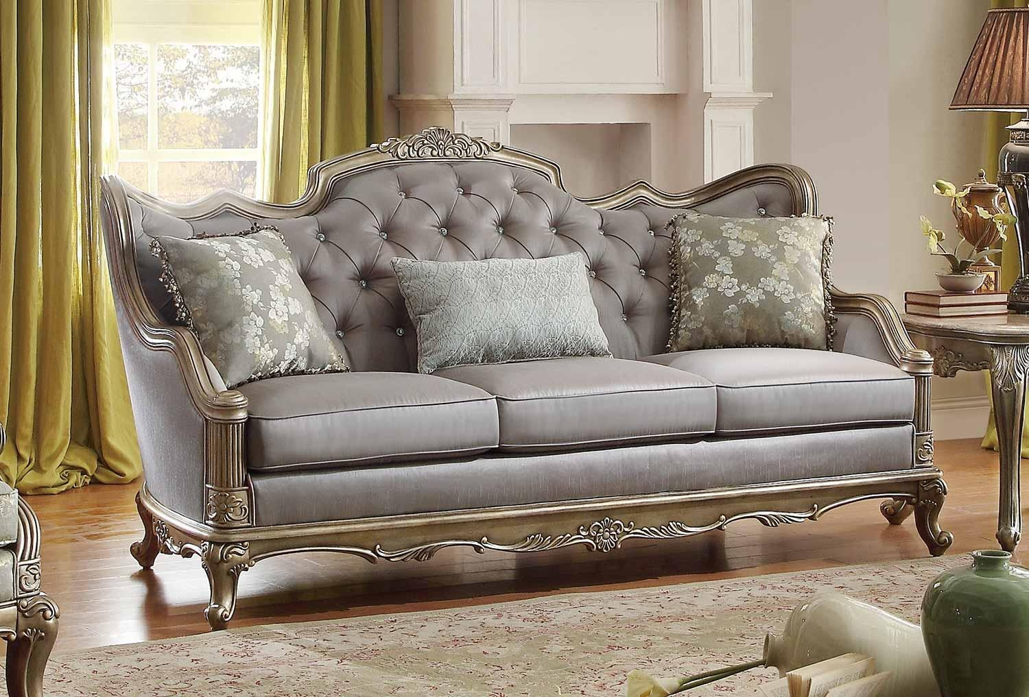 Homelegance Fiorella Sofa – Dusky Taupe 8412 3 With Homelegance Sofas (Image 8 of 20)
