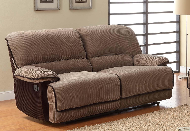 Homelegance Grantham Reclining Sofa Set – Brown – Corduroy U9717 3 Within Brown Corduroy Sofas (Image 10 of 20)