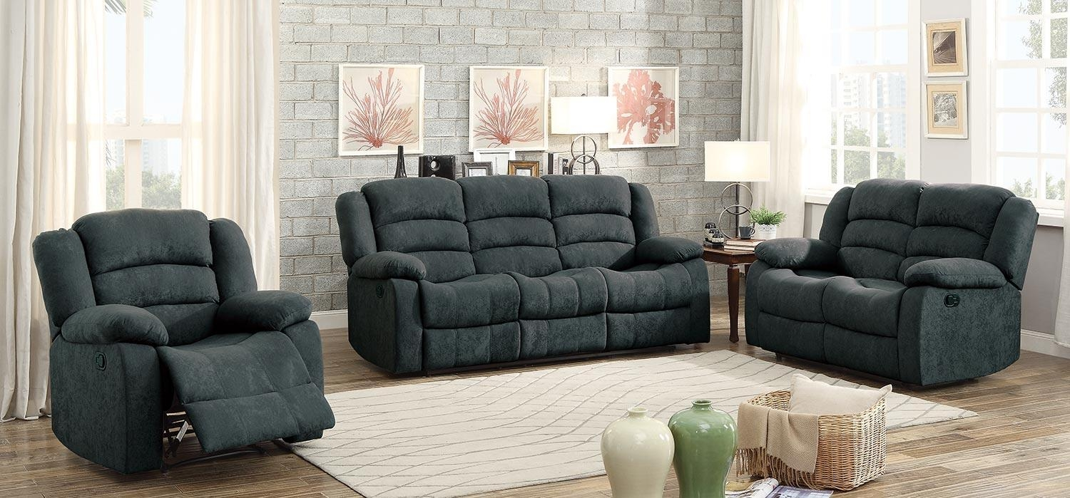 Homelegance Greenville Reclining Sofa Set – Blue Grey 8436Gy Sofa Inside Blue Grey Sofas (Image 13 of 20)