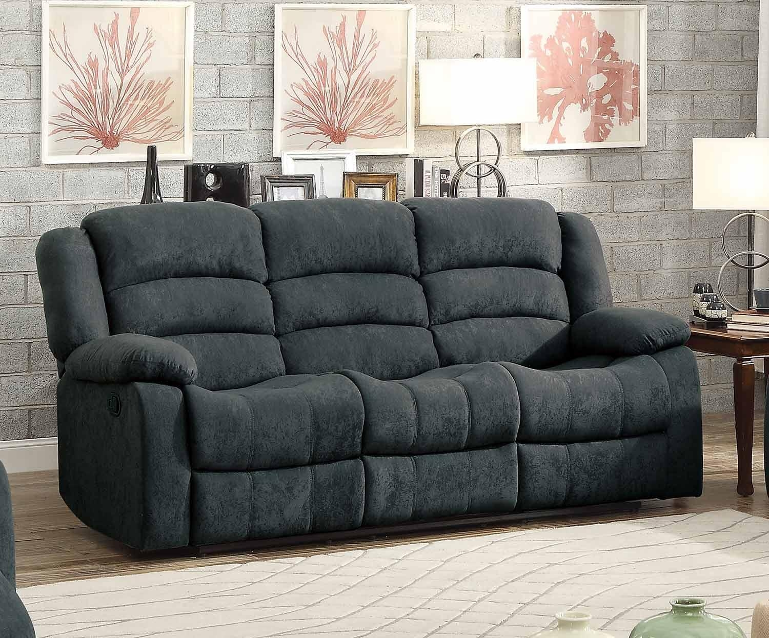 Homelegance Greenville Reclining Sofa Set – Blue Grey 8436Gy Sofa Inside Blue Grey Sofas (Image 12 of 20)