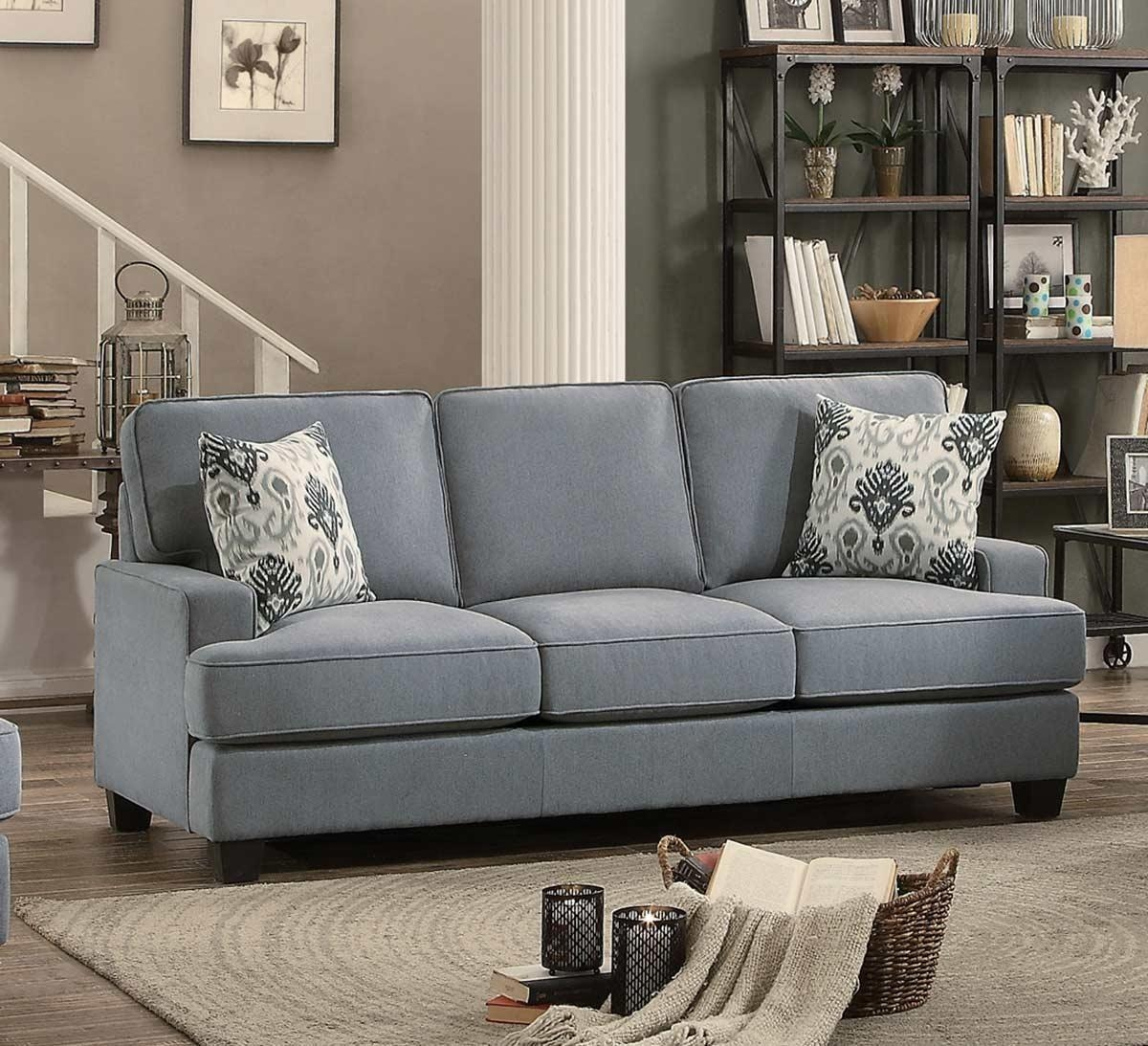 Homelegance Kenner Sofa Set – Gray Fabric 8245Gy Sofa Set With Regard To Homelegance Sofas (Image 10 of 20)