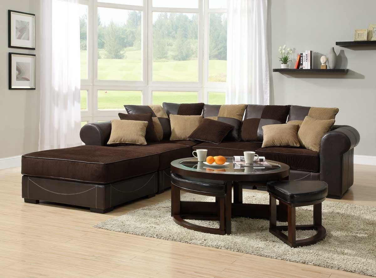 Homelegance Lamont Modular Sectional Sofa Set A – Chocolate With Regard To Brown Corduroy Sofas (Image 12 of 20)