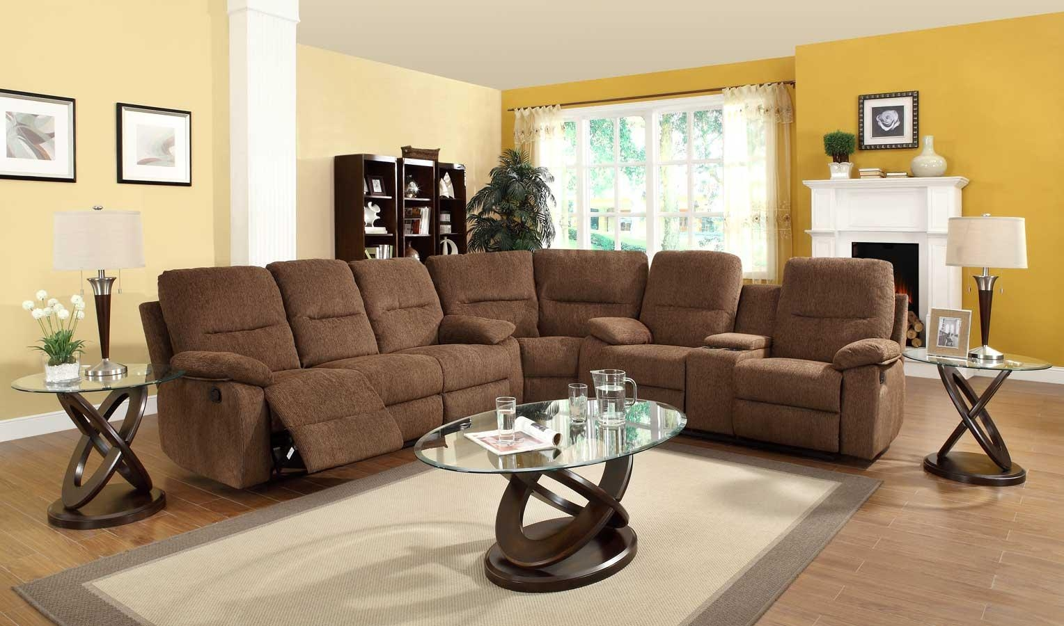 Homelegance Marianna Modular Reclining Sectional Sofa Set – Dark Inside Chenille Sectionals (View 13 of 15)