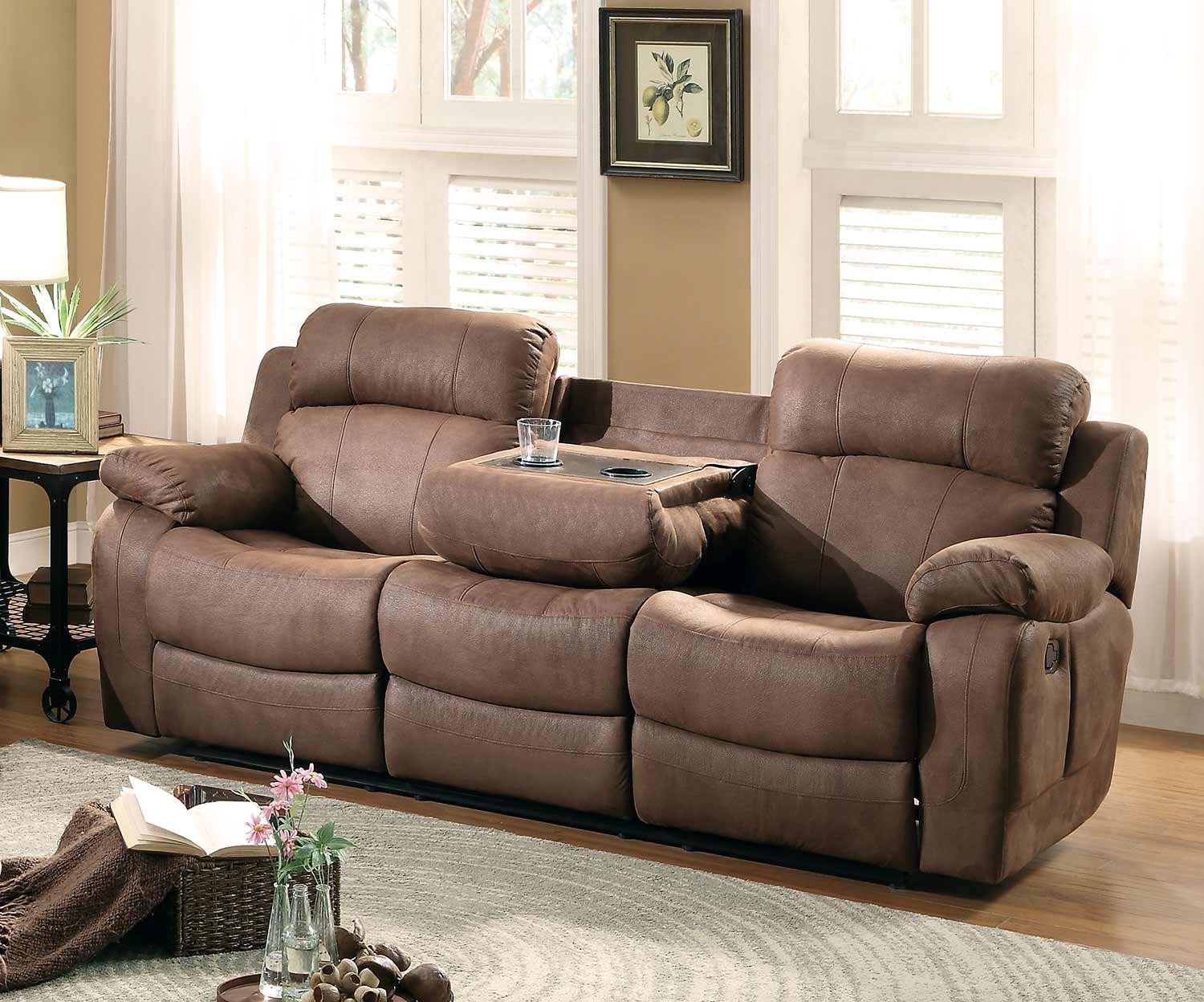 Homelegance Marille Reclining Sofa Set – Dark Brown 9724Dbr Sofa With Regard To Homelegance Sofas (View 19 of 20)