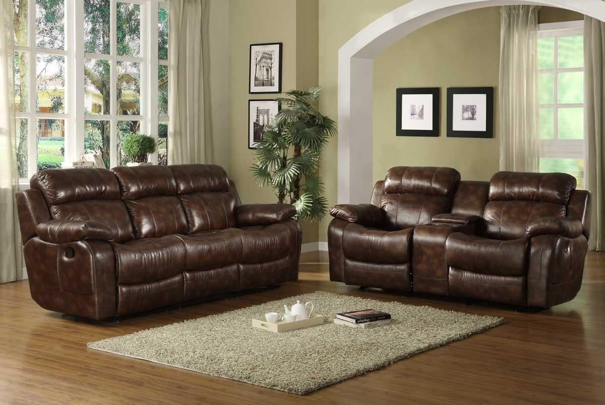 Homelegance Marille Reclining Sofa Set – Polished Microfiber For Homelegance Sofas (Image 12 of 20)