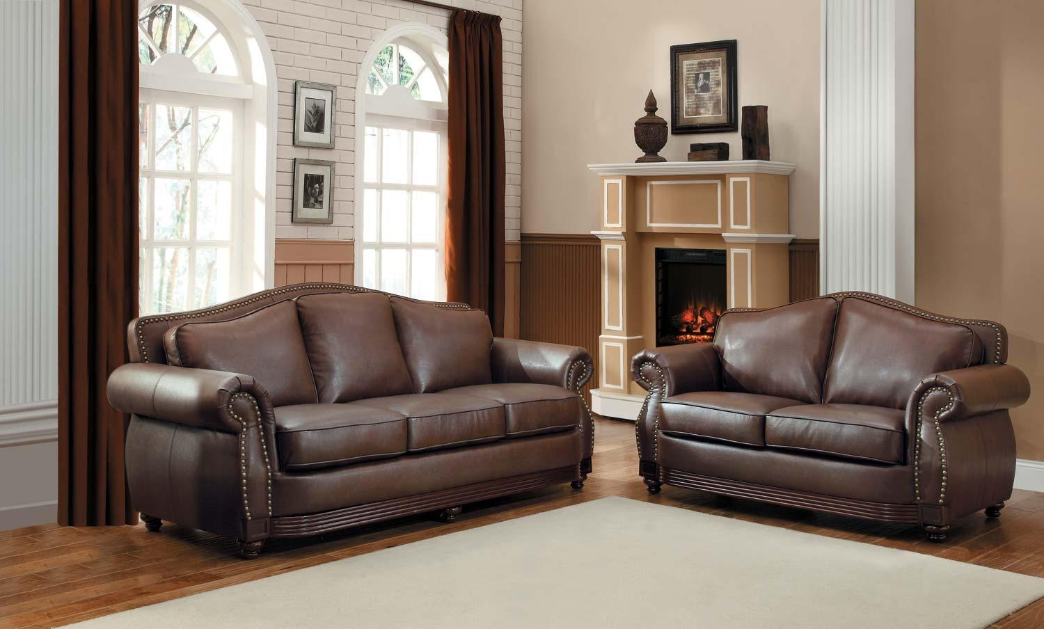 Homelegance Midwood Bonded Leather Sofa Collection – Dark Brown Intended For Bonded Leather Sofas (Image 14 of 20)